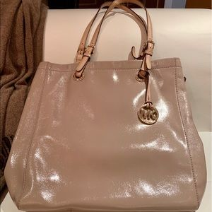 Michael Kors Bag | Patent Nude North South MK Tote